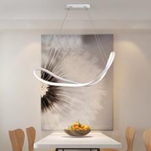 Modern lighting art Dimmable LED Pendant Lights for Dining Room Living Room Bar Hanging lights110V 220V White/Black Pendant Lamp стоимость