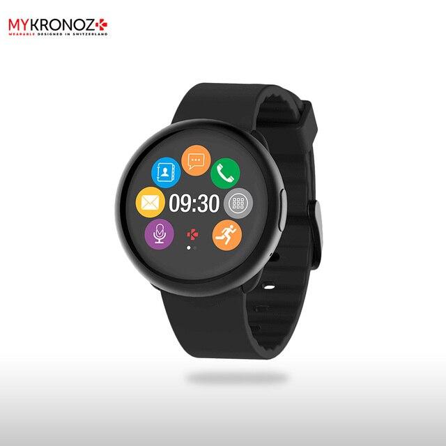 Смарт часы MyKronoz ZeRound2 цвет черный/черный