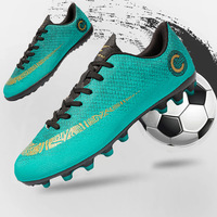 Spuerfly Soccer Cleats Shoes for Men Women AG Spikes TF Football Boots Outdoor Training Kid Students Cr7 Sport Sneakers Boys