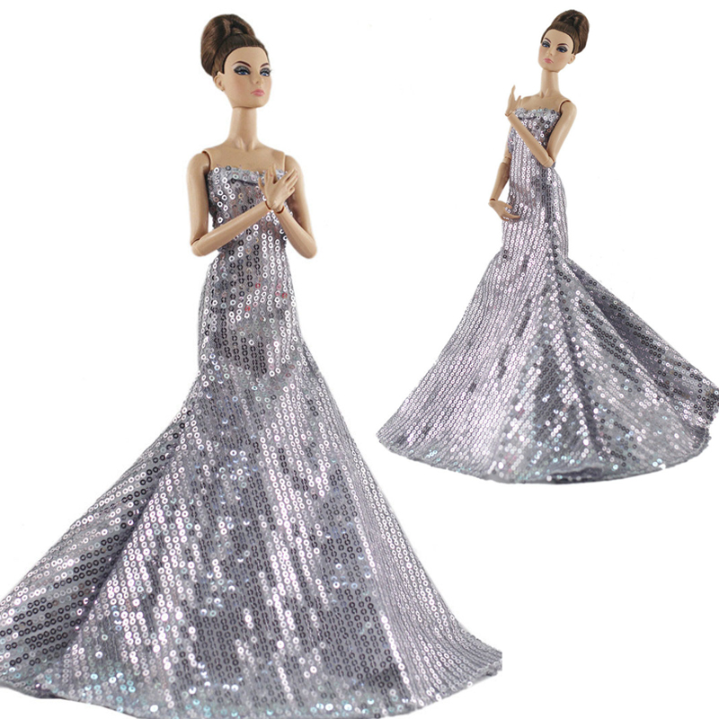 Handmade doll wedding dress for 1//6 dolls evening party gown clothes Ec