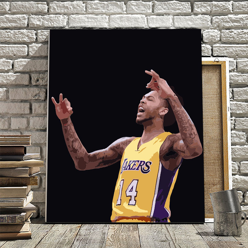 Basketball star Kobe Bryant World Cup player Dahuawang DIY home decor painting restaurant hotel cafe decoration painting image
