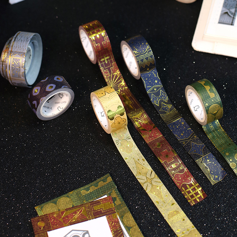 1Pcs Gold Stamping  Fairy Tale Japanese Washi Tape Scrapbooking Tools Papelaria Decorative Masking Tape Lot 15mm*10m JD115