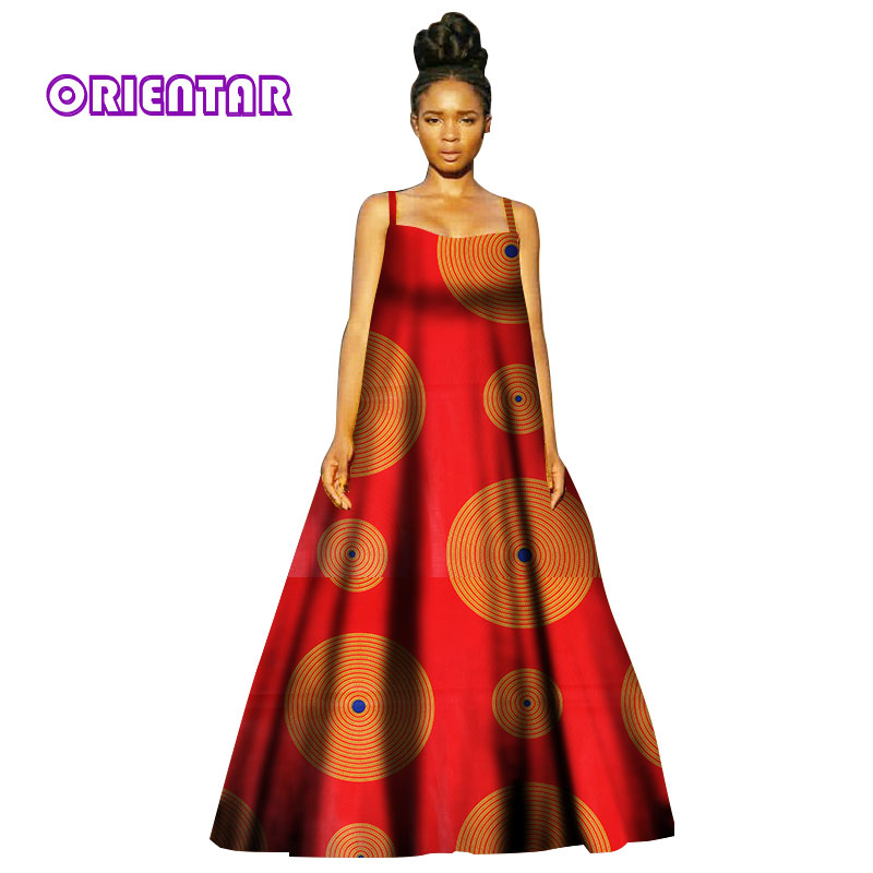 2018 robes d'impression africaine pour les femmes Dashiki Robe décontracté imprimé africain dames indien Sexy robes femmes vêtements WY2870