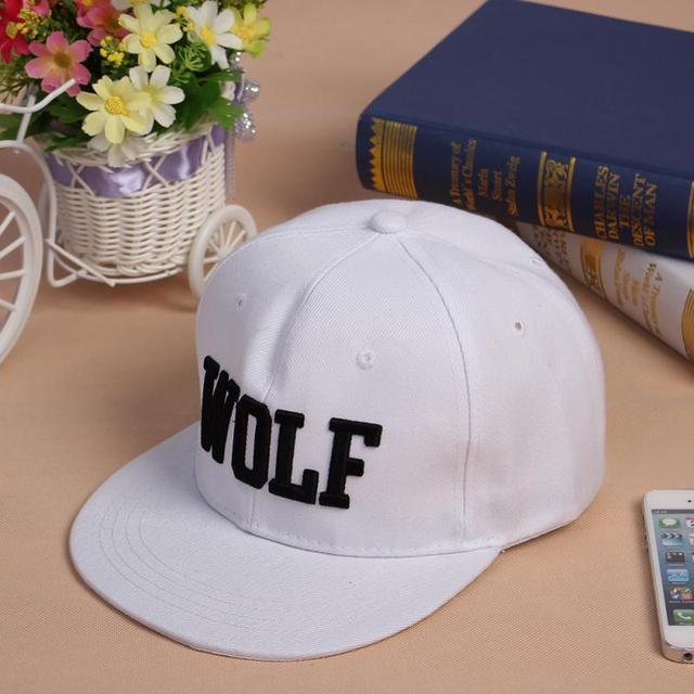 "LOVIW New vogue Adjustable Snapback Hip-hop Baseball Cap Hat Unisex ""WOLF"" Pattern 2 Colors"