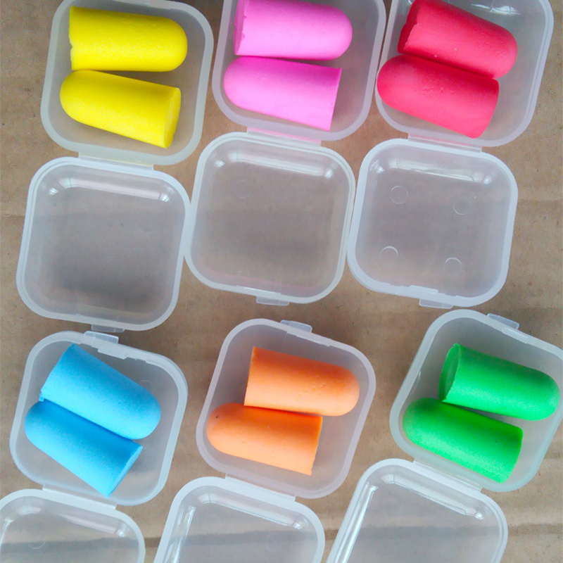 Soft Foam Anti-nosie Earplugs Ear Protector Plugs Anti Sound Noise Protection For Travel Sleeping Noise Reduction