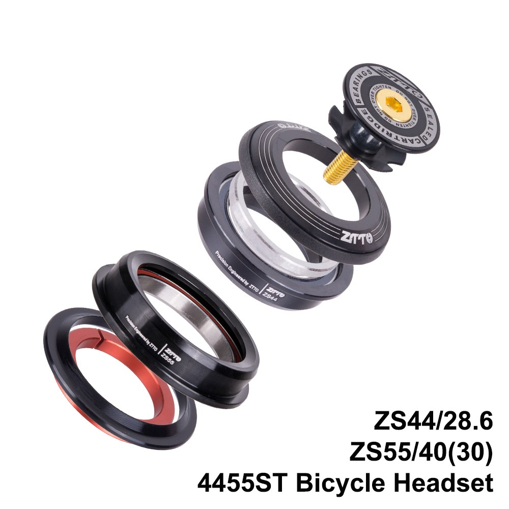 4455ST MTB Bike Road Bicycle Headset 44mm 55mm CNC 1 1/8-1 1/2 1.5 Tapered 28.6 Straight Tube fork Internal 44 55 Headset