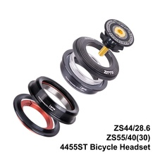 4455ST MTB Bike Road Bicycle Headset 44mm 55mm CNC 1 1/8-1 1/2 1.5 Tapered 28.6 Straight Tube fork Internal 44 55 Headset tito titanium alloy headset mtb bicycle parts cycling 1 1 8 straight head tube convert 1 5 taper fork 1 1 8 and 1 1 2 headset
