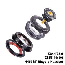 "4455ST MTB Bike Road Bicycle Headset 44mm 55mm CNC 1 1/8""-1 1/2"" 1.5 Tapered 28.6 Straight Tube fork Internal 44 55 Headset(China)"