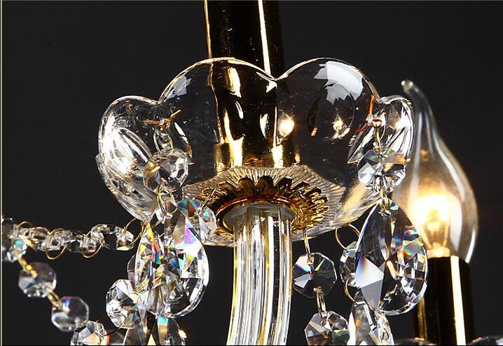 Անվճար առաքում 18 Arms 100% K9 Gold Crystal Luxury Big - Ներքին լուսավորություն - Լուսանկար 4