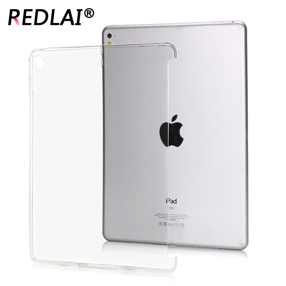 Redlai For iPad Pro 9.7 TPU Soft Crystal Transparent Trimming partner shell Silicone Back Protective Case A1673 A1674 A1675 candy color soft jelly silicone rubber tpu case for ipad pro 9 7 tpu case skin shell protective back cover for ipad pro 9 7 inch