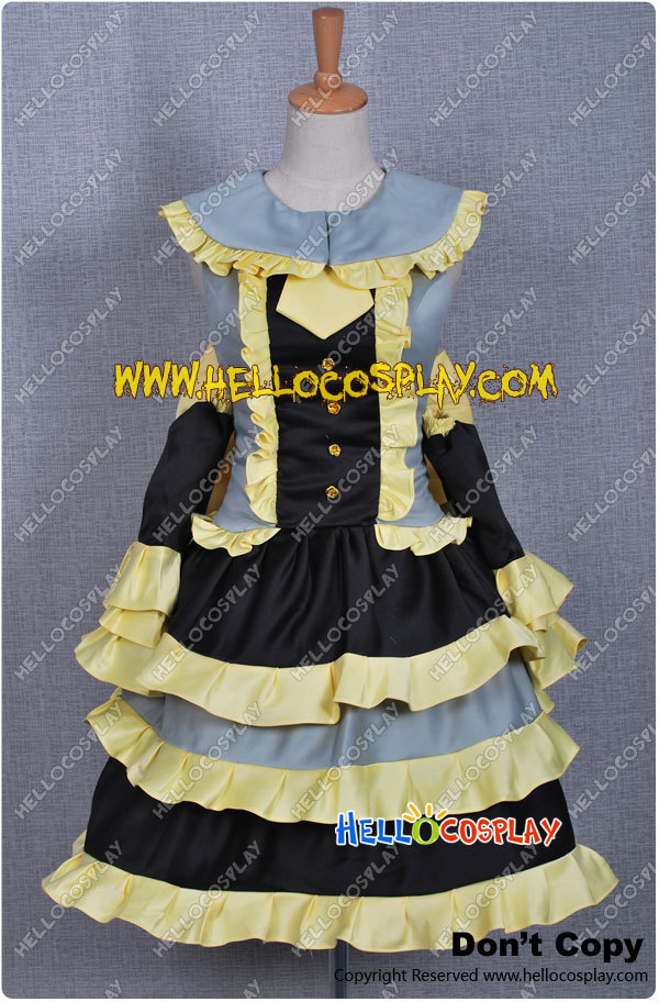 Vocaloid 2 Miku's Thanksgiving Day Daughter of Evil Rin Kagamine Costume H008