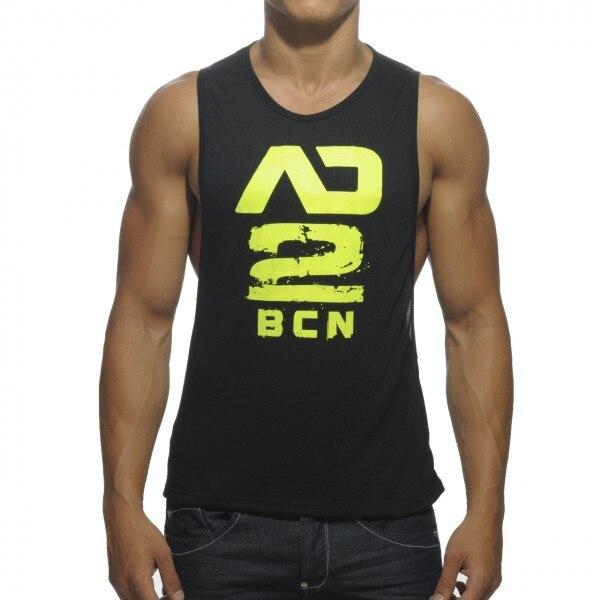brand clothing New Men's Vivid Tank Tops Low Cut Armholes Vest Sexy Men's Tank Man Muscle Man's Fitness Suit