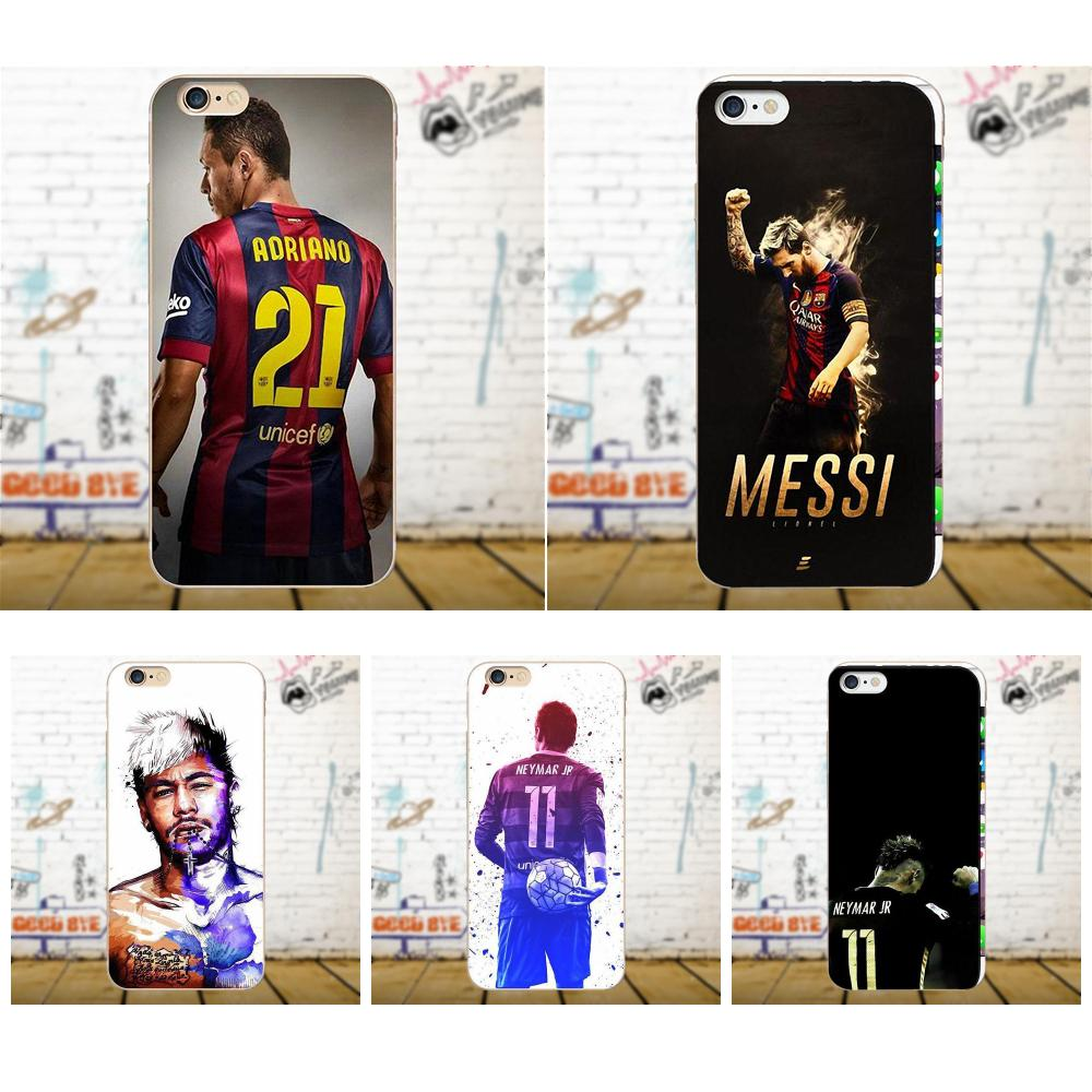 Barcelona Soccer Star Ronaldo Messi Neymar Jersey For Apple iPhone 4 4S 5 5C 5S SE 6 6S 7 8 Plus X For LG G4 G5 G6 K4 K7 K8 K10