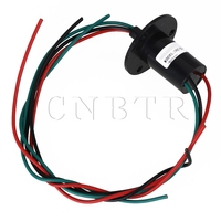 Black 15A 500RPM 240V 3 Wires Capsule Slip Ring For Rotating Work Platforms