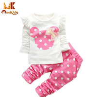 Monkids 2016 new kids clothes girl baby long rabbit sleeve cotton minnie casual suits baby clothing.jpg 200x200
