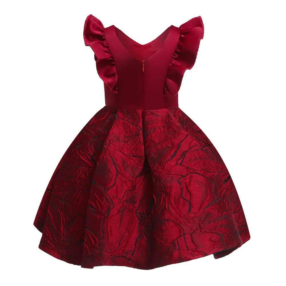 Платье для маленьких девочек коллекция 2019 года, новые торжественные платья для девочек на свадьбу Детские Рождественские наряжаться в костюм принцессы детская одежда для девочек