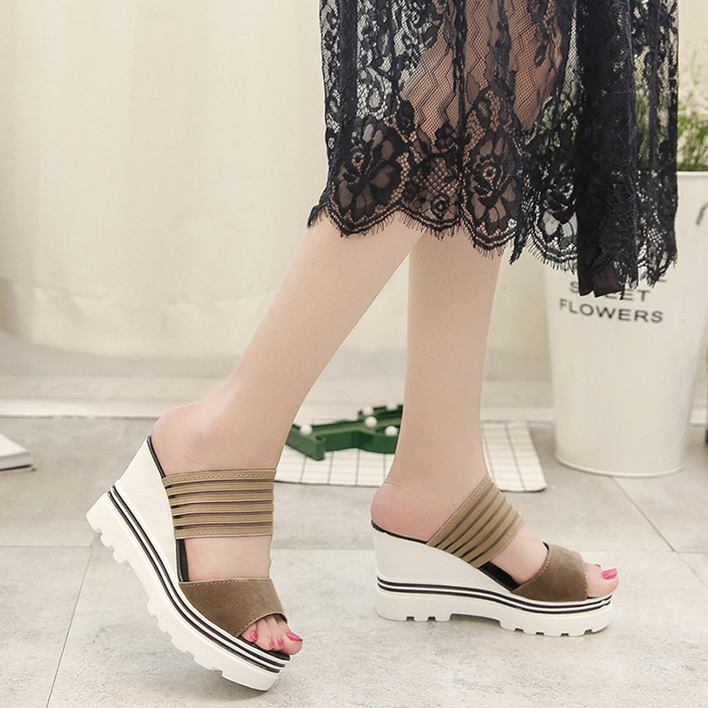 c32cb552c5 2018 Hot Fashion Women Summer Sandals Female Wedges Heels Sandals ...