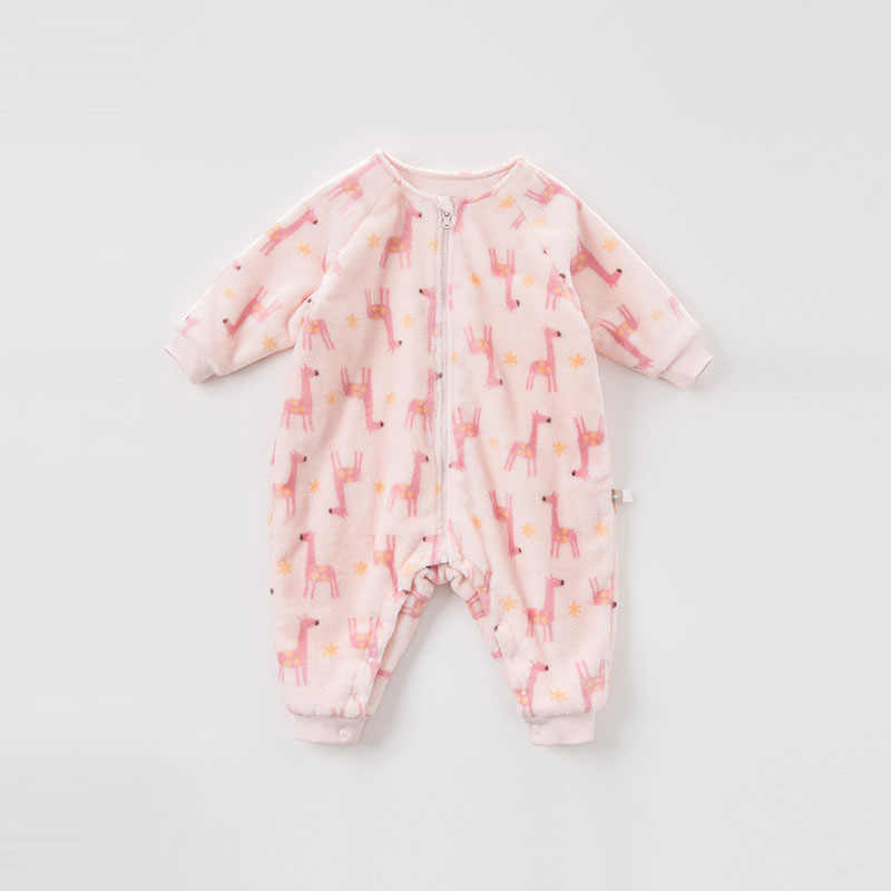 DB9308 dave bella winter neue geboren baby unisex druck langarm romper infant kleinkind overall kinder boutique strampler 1 stück