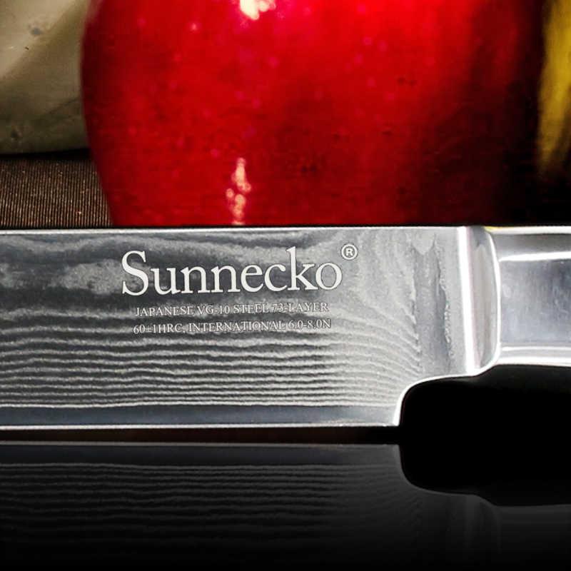 "Professional SUNNECKO 8"" inches Sashimi Kitchen Knife Japanese VG10 Damascus Steel Slicing Knives Sharp Blade Cutter G10 Handle"