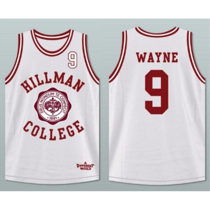Intellective Synsloven Mannen Basketbal Jersey Top Uniformen Movie Cultuur Hillman Nr 9 Wayne Sport Kleding Vest Mesh Ademend Plus Size
