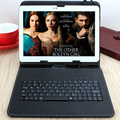 RUSSIAN KEYBOARD 10 inch tablet case for Using Russian Language Leather Micro USB Keyboard Case to Plate Tablet Device