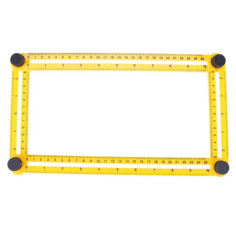 1Piece Portable Foldable Measuring Tool Protractor Ruler Multi Angle Measurement Woodworking Gauging Tools