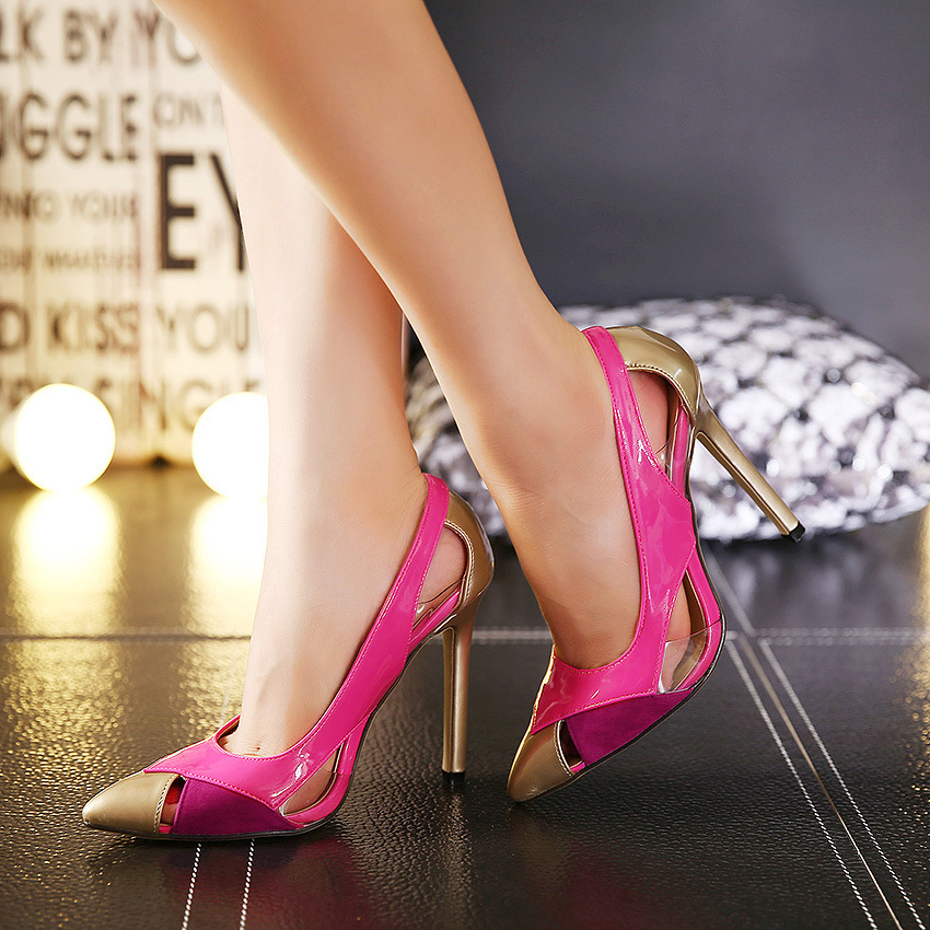 ФОТО women pumps shoes sandalias de salto alto high heels ladies designer shoes chaussures femmes pour mariage dress shoes