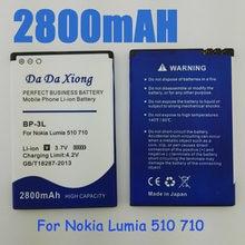 2860875ea3f 2800mAh BP3L BP-3L Battery for Nokia Lumia 710 510 603 610C 900 303 603 610  3030 505 cell phone