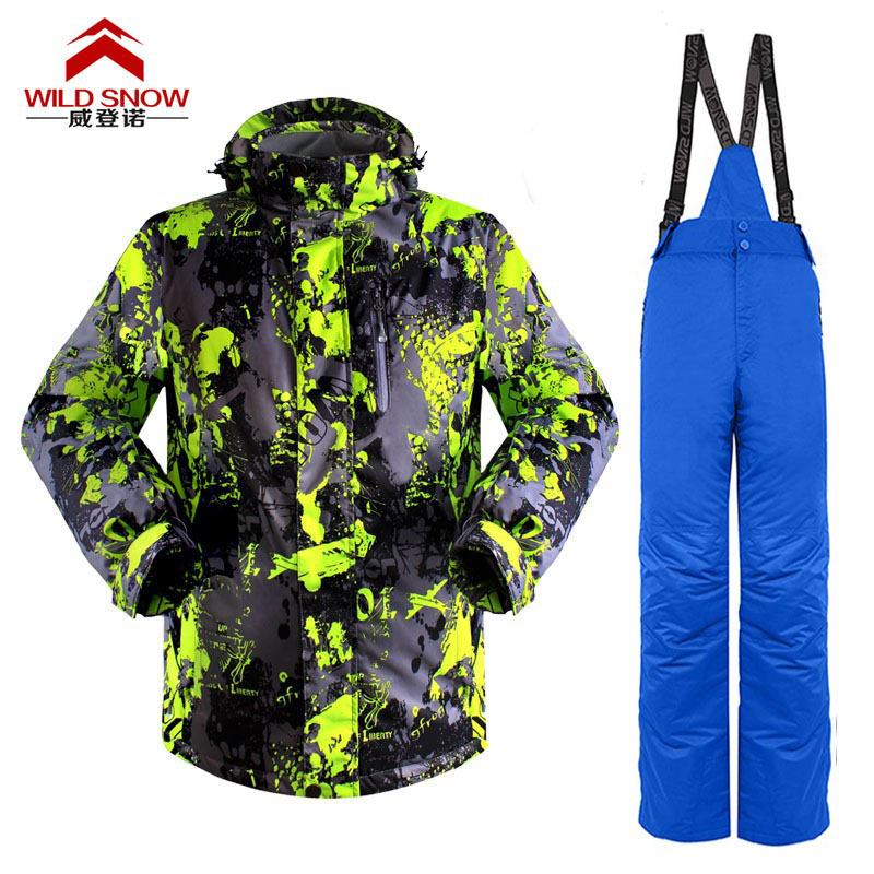 Prix pour Promotion Hommes Hiver Imperméables chaussures de Randonnée En Plein Air Costume Veste Hommes/snowboard Veste de Ski Costume Hommes Vestes De Neige pantalon PYS804