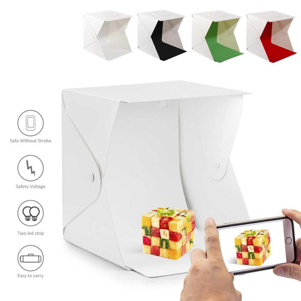 40 cm mini Pliage Lightbox Photographie Studio Softbox LED Lumière Soft Box Caméra Photo Fond Cube Boîte D'éclairage Tente Kit