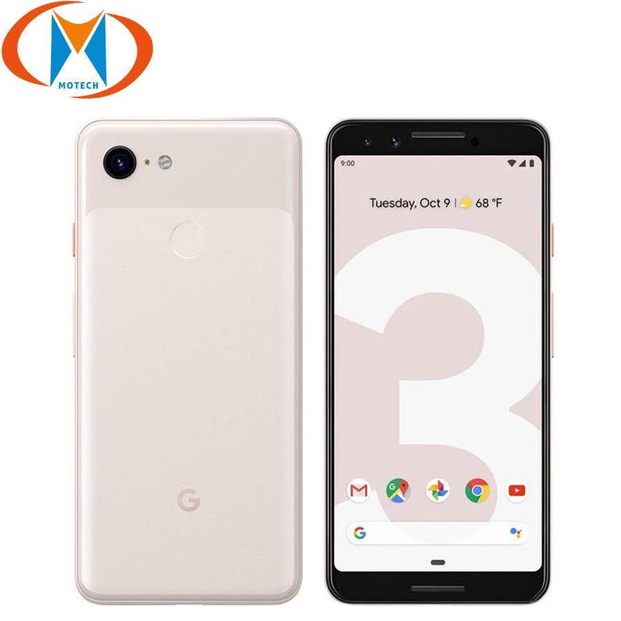 Google Pixel 3 Mobile Phone 5.5Inch Snapdragon 845 Octa Core 4GB RAM 64GB ROM Android9.0 NFC 2915 Battery Fingerprint Smartphone
