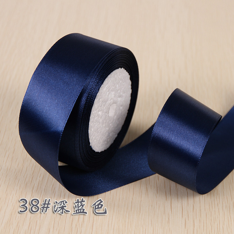 6 мм 1 см 1,5 см 2 см 2,5 см 4 5 см атласными лентами DIY искусственный шелк розы Ремесла поставок швейной фурнитуры Скрапбукинг материал - Цвет: Темно-синий