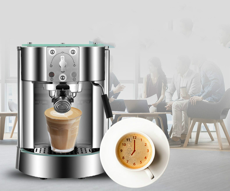 pump pressure type coffee machine used commercial Italian semi-automatic steam Espresso Coffee Maker md2007 muti function full automatic italy type espresso cappuccino coffee maker machine with high pressure steam for home use