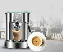 pump pressure type coffee machine used commercial Italian semi-automatic steam Espresso Coffee Maker