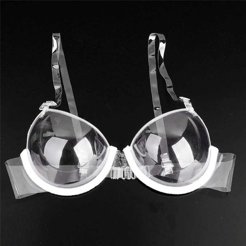 Sexy Delle Donne 3/4 Tazza Trasparente Reggiseno Push Up Ultra-sottile Invisibile Bra e pellicole per cofano Biancheria Intima
