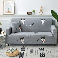 Dog Sofa Cover Set Grey Woof Armchair Cover Loveseat Cover Slipcover Housse De Canape Cover For Sofa Housse Canap D'angle Couch