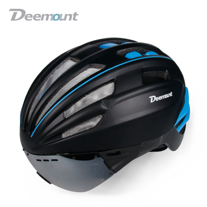 Strict Deemount Hot New Hmt-014 Evade Aero Cycling Helmet Bicycle Mtb Mountain Road Biking Safety Cap In-mold Built W/ Goggle Lens Making Things Convenient For Customers Sports & Entertainment Cycling