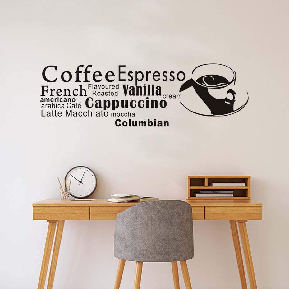 French Coffee Espresso Wall Decal Wall Art Quote Vinyl ...