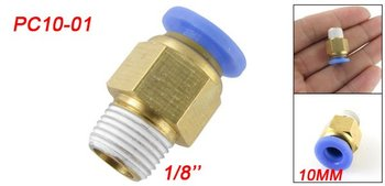Free Shipping 50PCS A Lot 10mm x 1/8'' Push In Male Run Pneumatic Quick Fittings PC10-01