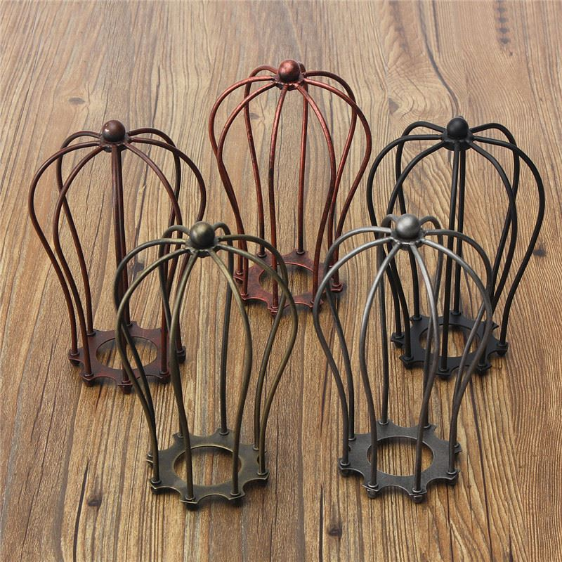 Vintage Industrial Lamp Covers Pendant Ceiling Edison Light Fitting Bulb Chandelier Cage Guard Bar Cafe