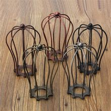 Vintage Industrial Lamp Covers Pendant Ceiling Edison Light Fitting Lamp Bulb Chandelier Cage Guard Bar Cafe Hanging Lamp Shade