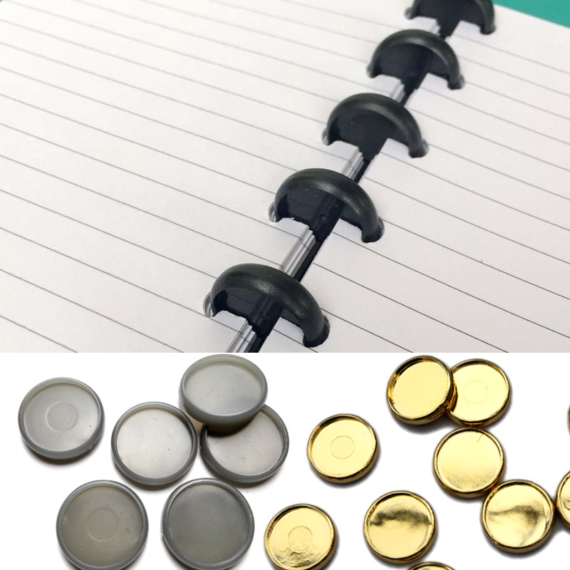 50Pcs Binding Disc Loose Book Plastic Round Buckle Mushroom Hole Arc Notebook Poly Index Dividers Inner Books Office Supplies