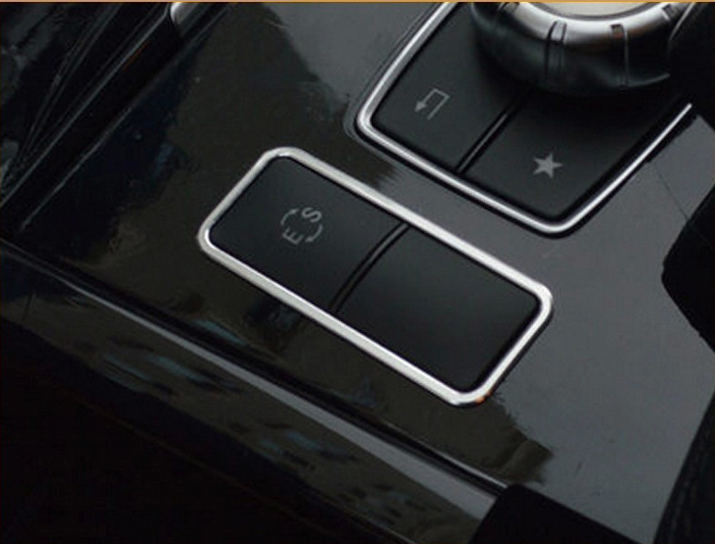 Center Console ES Buttons Frame Decoration Cover Trim For Mercedes Benz E Class W212 CLS Aluminium Alloy Modified Decals