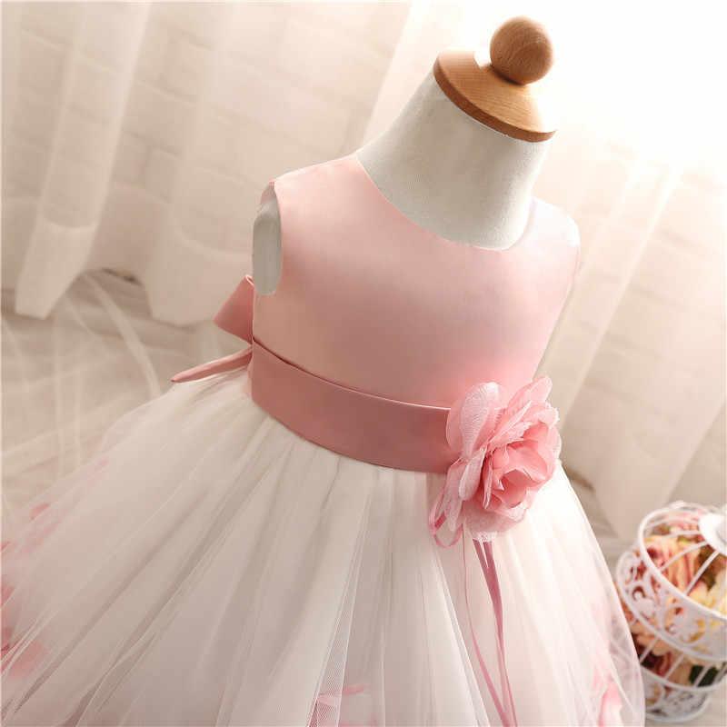 9832fbb40e93 ... Baptism baby Girl Dress 1 Year Birthday infant Girls Clothes Kids  princess Dresses Wedding Party Wear ...
