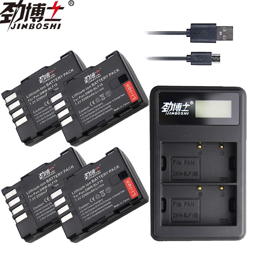4 Pc 2200 Mah Dmw-blf19 Dmwblf19e Dmw Blf19 Dmw-blf19e Blf19pp Batterie & Lcd Ladegerät Für Panasonic Lumix Gh3 Gh4 Gh5 Dmc-gh3 Stromquelle