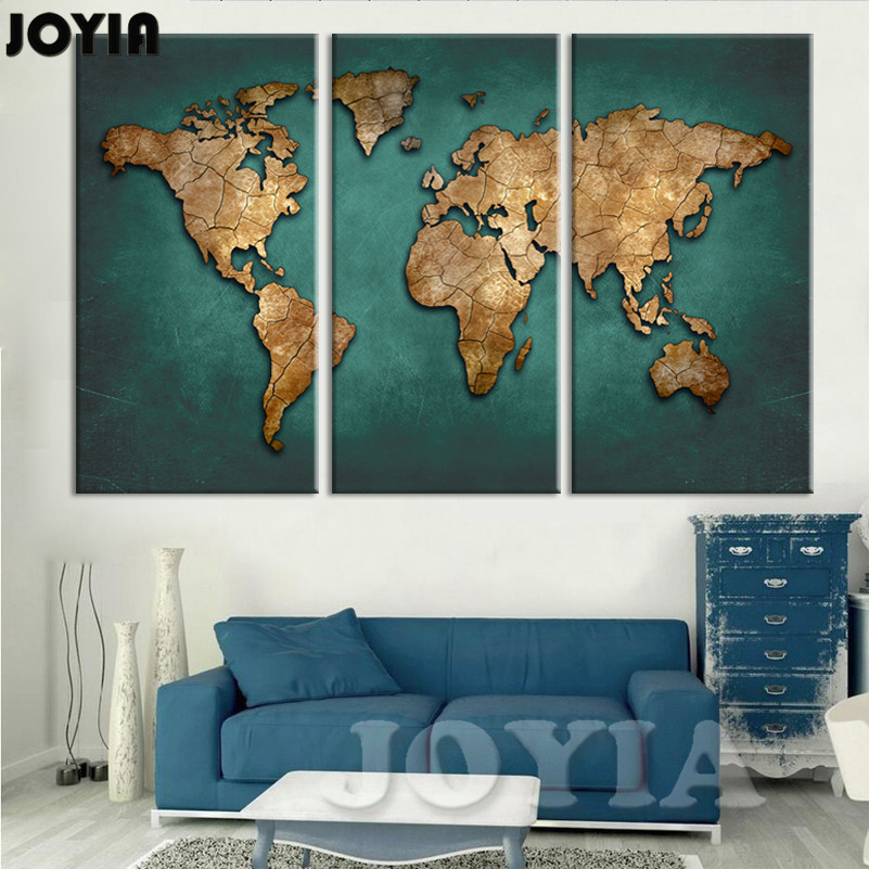 Large Canvas Map Of The World.World Map Wall Painting Canvas Art Large Abstract Maps Forum Dark
