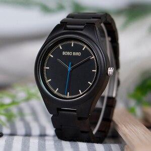 Image 2 - BOBO BIRD relogio masculino Wooden Watch Men Timepieces Quartz Watch in Wood Gift Box OEM Drop Shipping W O03