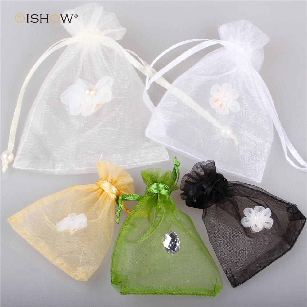 Jewelry Gift Organza Bags Wedding Favors Candy Pouches Home Party ...