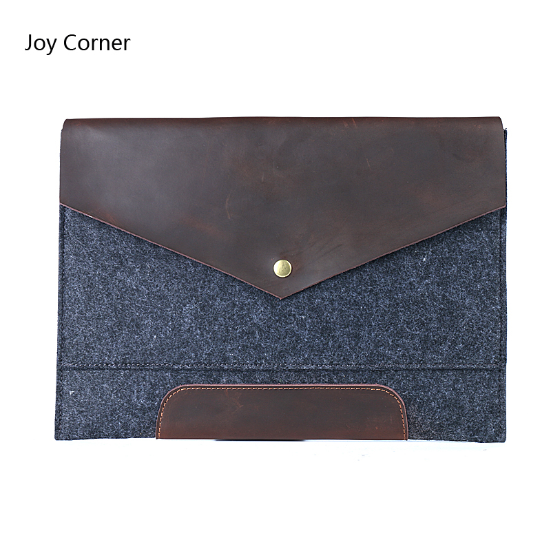 A4 File Folder Felt with Nature Leather Big Capacity File Bag Portfolio Business Organizer Document Folder Filing Products Gifts deli a4 size folder document bag expandable filing storage document file folder organizer expander holder bag business briefcase