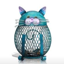 Tooarts Cat Piggy Bank Metal Coin Bank Money Box Figurines Coin Box Saving Money Home Decor New Year Christmas Gift For Kids